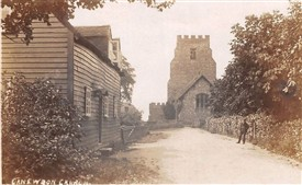 Photo: Illustrative image for the 'Canewdon Church & Vicarage Cottage from the East c1913' page