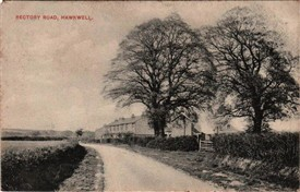 Photo:Rectory Road, Hawkwell looking towards the church with the terrace properties opposite Sweyne Avenue