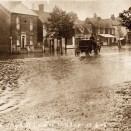 Photo:A very flooded Rayleigh High Street at the turn of the 20th century