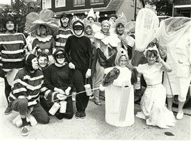 "Photo:The ""Royal Jelly Bees"" Hullbridge Carnival. The ""Bees"" were Sandra Hall and friends."